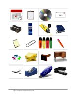 56161 classroom objects and stationery