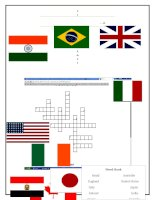 country flags crossword