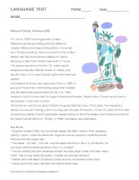 9541 statue of liberty complete language test