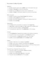 32951 presentation checklist