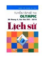 tuyển tập đề thi olympic 30 tháng 4 lần thứ 16 môn lịch sử