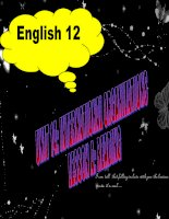 Bài giảng Tiếng Anh 12 unit 14: International organizations