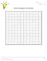 1464 9 european countries  wordsearch