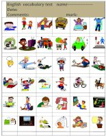 every day action verbs test