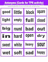 18090 antonyms cards for tpr activity