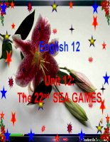 Bài giảng Tiếng Anh 12 unit 13: The 22nd Sea games