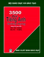 3500 từ tiếng anh thông dụng dùng cho giao tiếp, ôn thi TOEIC, IELTS, TOEFL