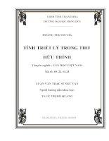 Luận văn: triết lý trong thơ Hữu Thỉnh ĐH Hồng Đức  Thanh Hóa