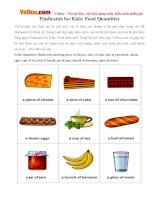 Flashcards for Kids: Food Quantities