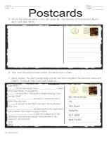 50877 postcard writing