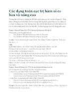 Các dạng toán cực trị hàm số cơ bản và nâng cao