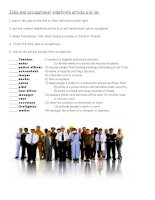 62270 indefinite article with jobs and occupations