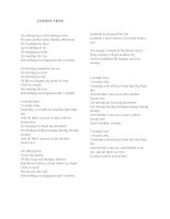 7676 lemon tree lyrics