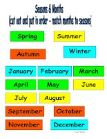 12934 seasons and months sequencing activity