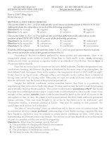 Bộ đề thi thử (số 2) THPT quốc gia môn tiếng anh 2015 có đáp án