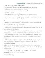Một số phương pháp giải nhanh toán kim loại