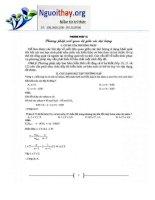 Phương pháp về mối quan hệ giữa các đại lượng hóa học