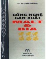 Công nghệ sản xuất MALT và bia _pgs ts hoàng đình hòa