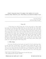 THỰC TRẠNG dạy và học các môn lý LUẬN CHÍNH TRỊ TRONG các TRƯỜNG CAO ĐẲNG HIỆN NAY