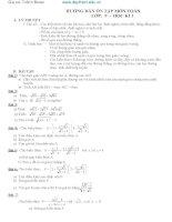 Hướng dẫn ôn tập toán lớp 9  HK1