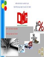 Bài thuyết trình Báo cáo Kế toán chi phí theo thực tế