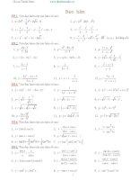 Chuyên đề hàm số hay