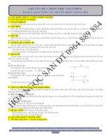Ôn tập và kiểm tra 1 tiết chương 1 vật lý 10