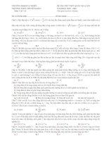 Bộ đề thi thử (số 2) THPT quốc gia môn vật lý năm 2016 (có đáp án)