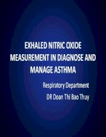Exhaled nitric oxide measurement in asthma