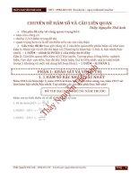 Chuyên đề hàm số và các câu hỏi liên quan  THẦY THẾ ANH