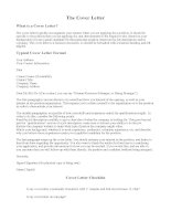 What is and how to write a cover letter