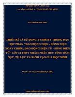 """SỬ DỤNG VVEBSITE TRONG DẠY HỌC PHẦN """"DAO ĐỘNG ĐIỆN - DÒNG ĐIỆN XOAY CHIỀU, DAO ĐỘNG ĐIỆN TỪ - SÓNG ĐIỆN TỪ"""" LỚP 12 THPT NHẰM PHÁT HUY TÍNH TÍCH SỰC, TỰ LỰC VÀ SÁNG TẠO CỦA HỌC SINH"""