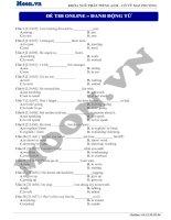 12  danh động từ (p3)  thi online   danh động từ
