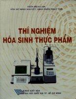 Thí nghiệm hóa sinh thực phẩm   Trần Bích Lam