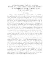 TIỂU LUẬN TRIẾT HỌC - CHÍNH SÁCH KINH TẾ MỚI CỦA LÊ NIN VÀ Ý NGHĨA ĐỐI VỚI VIỆC PHÁT TRIỂN KINH TẾ NHIỀU THÀNH PHẦN CỦA NƯỚC TA