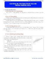 LT HÌNH học 12   CHƯƠNG III  tọa độ KG