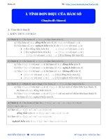 NỘI DUNG 1  TÍNH đơn điệu của hàm số