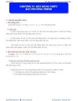LT đại số 10   CHƯƠNG IV  bđt  BPT