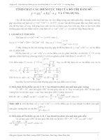 skkn TÍNH CHẤT các điểm cực TRỊ của đồ THỊ hàm số và ỨNG DỤNG
