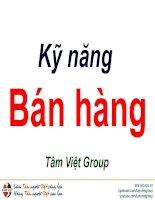 Kỹ năng bán hàng  Tâm Việt