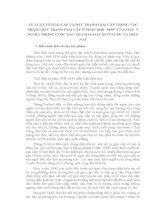 TIỂU LUẬN TRIẾT HỌC - LÝ LUẬN VỀ GIAI CẤP VÀ ĐẤU TRANH GIAI CẤP TRONG TP ĐẤU TRANH GIAI CẤP Ở PHÁP 1848 - 1850 CỦA MÁC. Ý NGHĨA TRONG CUỘC ĐTGC Ở NƯỚC TA HIỆN NAY