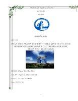 PHÂN TÍCH NGUỒN LỰC PHÁT TRIỂN KINH TẾ CỦA TỈNH BÌNH DƯƠNG(20102015) VÀ CÁC CHÍNH SÁCH PHÁT TRIỂN KINH TẾ(20152020)