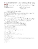 HOT bộ đề thi tieng viet lop 2 cuoi HK2   tập làm văn 2   nguyễn đông biên