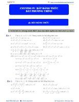 BT đại số 10   CHƯƠNG IV  bđt  BPT