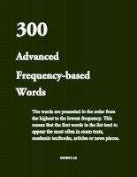 300 advanced frequency based words