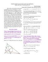 HOT các phương pháp giải bài toán tọa độ phẳng trong kỳ thi TN THPT   hình học 12 nâng cao   đào văn chánh