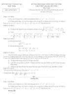 Tuyển chọn đề thi học sinh giỏi cấp tỉnh môn toán lớp 9