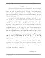 XÂY DỰNG KẾ HOẠCH MARKETING CHO SẢN PHẨM LỐP Ô TÔ TẢI CÔNG TY CỔ PHẦN CAO SU ĐÀ NẴNG TẠI THỊ TRƯỜNG BẮC TRUNG BỘ