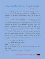 Hướng dẫn cách học từ vựng hiệu quả   manh ha   p1