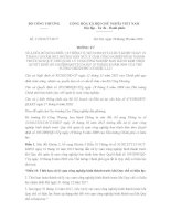 Thông tư 17/2016/TT-BCT sửa đổi, bổ sung điều 10 Thông tư số 31/2012/TTLT-BCT-KHĐT
